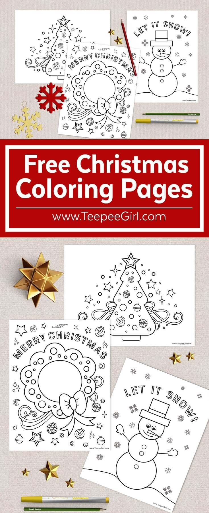 Free Christmas Coloring Pages | Navidad, Imprimibles y Pintar