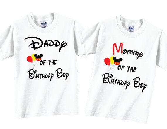 cd27d2b44 2 shirt set Mommy and Daddy of The Birthday Boy Shirts and Tshirts ...