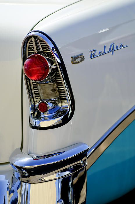 1956 Chevrolet Belair Taillight Emblem Classic Cars Retro Cars