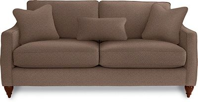 Best Delaney Apartment Size Sofa By La Z Boy In Fabric Brown 400 x 300