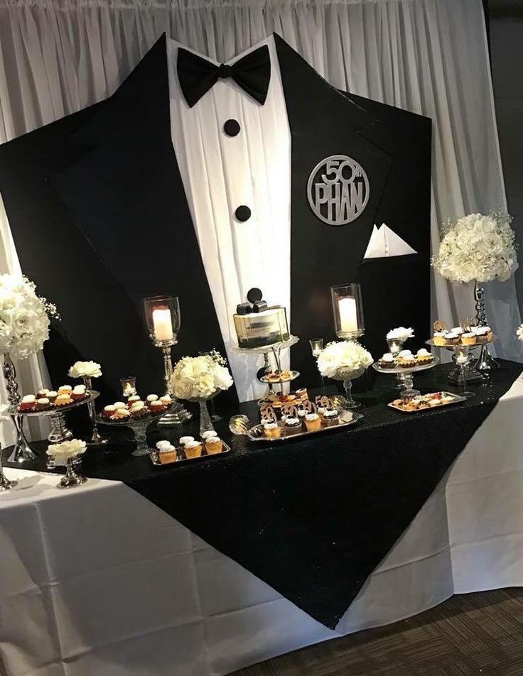 50. schwarze Krawatte #50thbirthdaypartydecorations