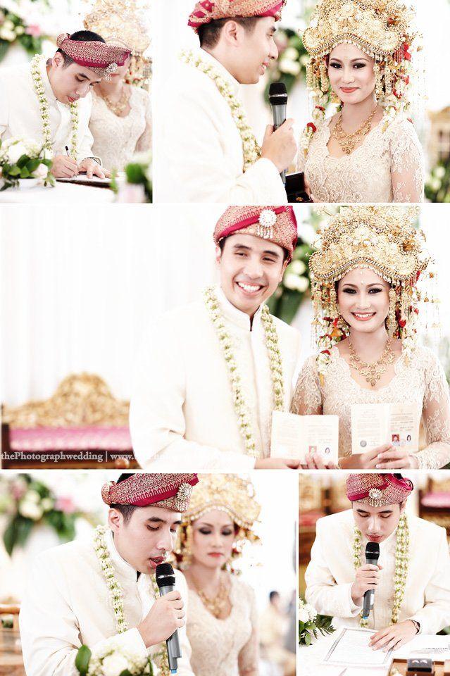 Pics of Boyke and Ike's wedding vows in Palembang