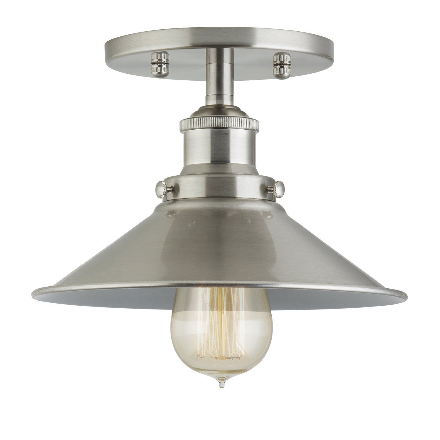 with ceilings light lighting in satin shop ceiling at led polished astronaut nickel flush mount dalesford fan round fixture allen roth com centerville brushed kit lowes