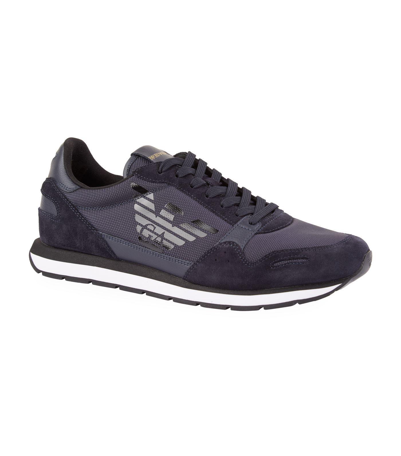 3937eb78305 Emporio Armani Suede Trim Eagle Mesh Sneakers #AD , #SPONSORED, #Suede,