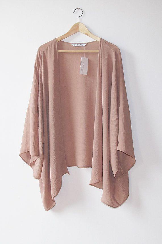 Lydia Mauve Kimono | Modern Bohemian Long Sleeve Pink Kimono Cardigan Made in the USA by Gina Marie Vintage on Etsy, $185.27 CAD