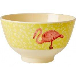 Kleine RICE Schüssel Blume Flamingo
