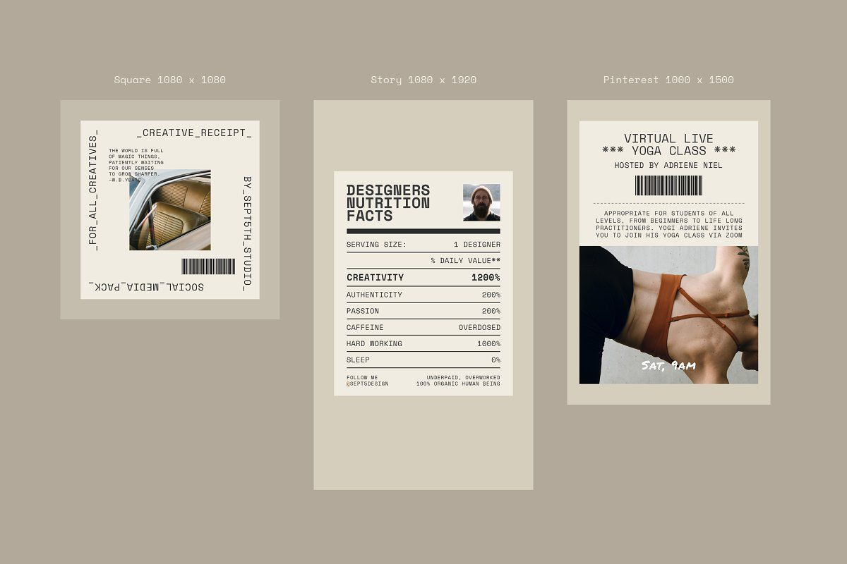 Creative Receipt Social Media Pack Social Media Pack Book Cover Design Template Social Media Template