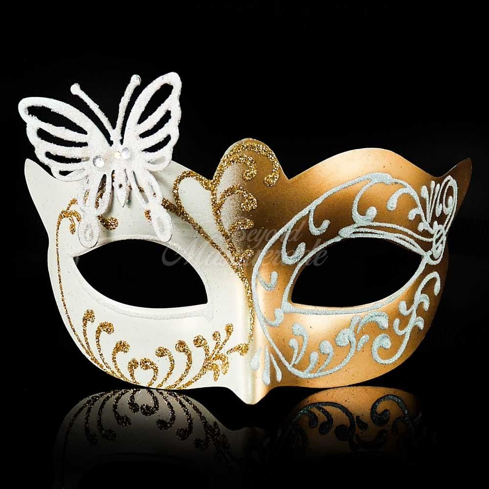 Mens Halloween Masquerade Mask Metalic Silver Gold Birthday Bachelor Party Prom