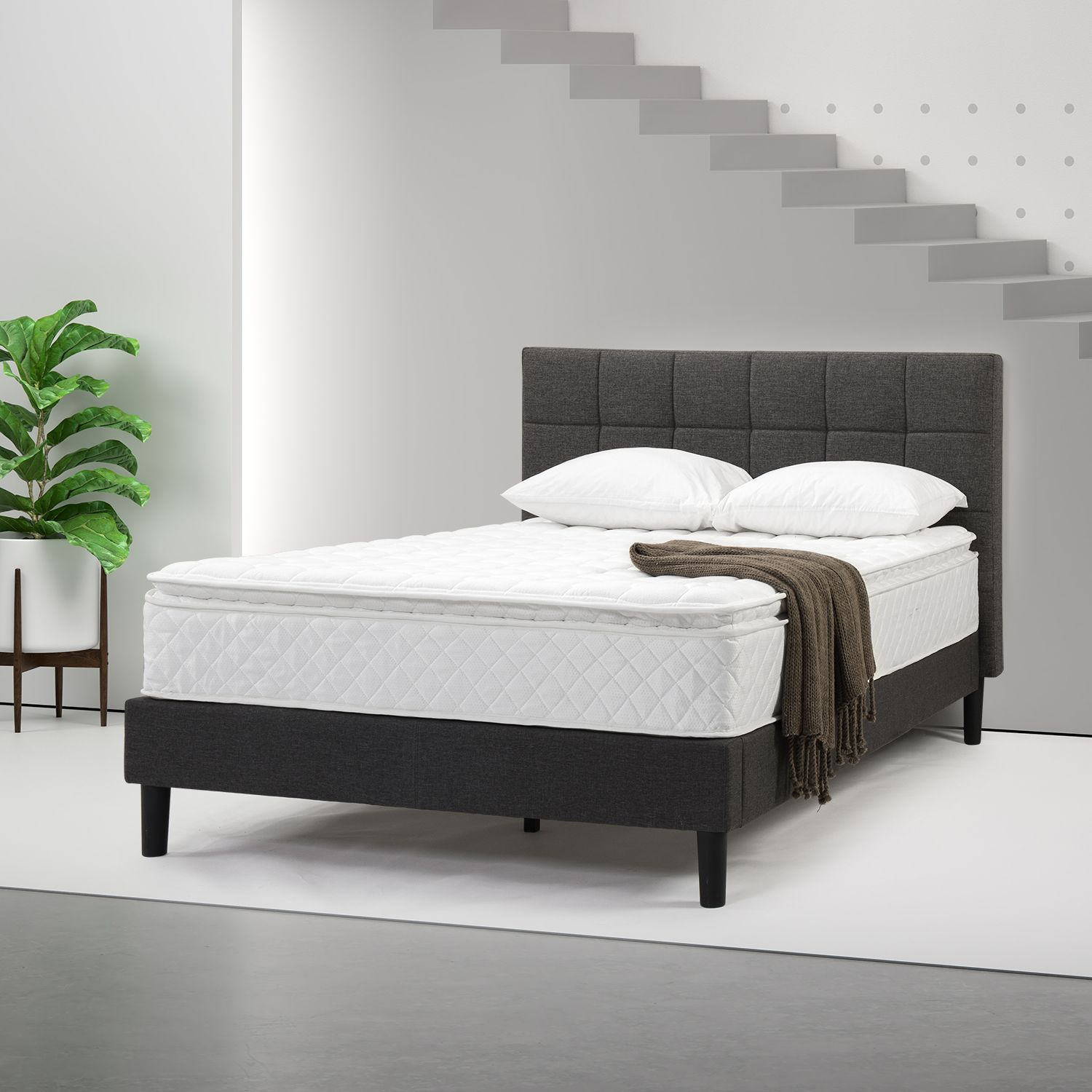 Home Mattress, Metal platform bed, Bed frame