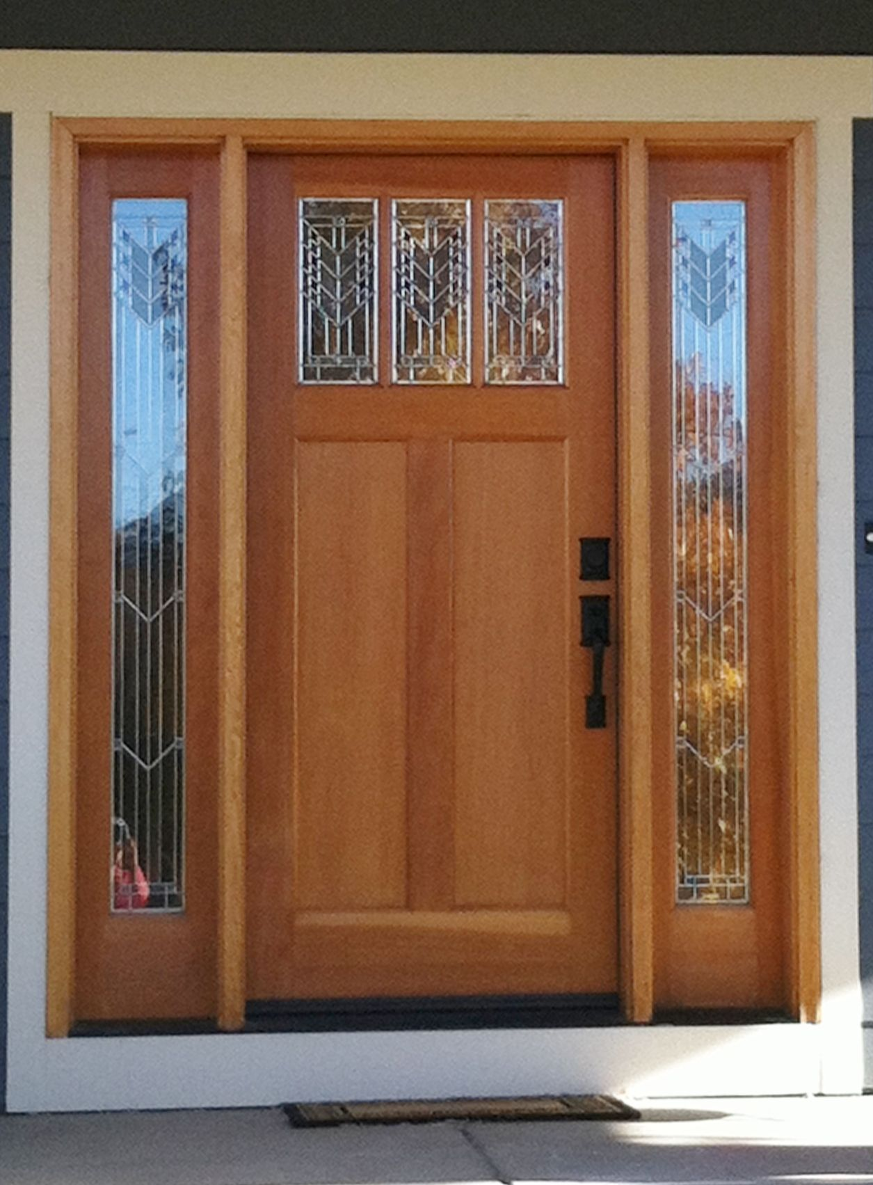 metal front doors with sidelights