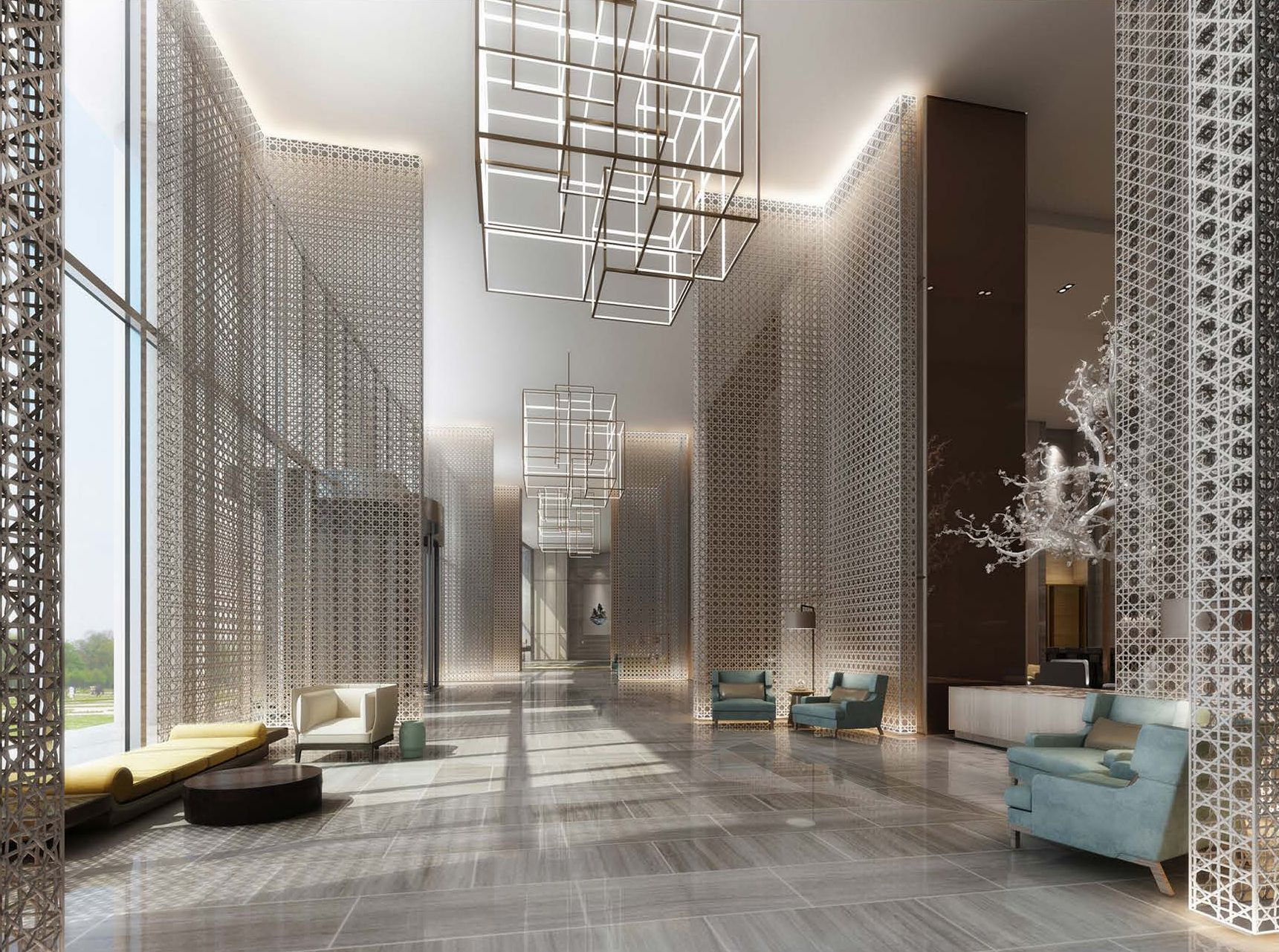 Pin by xiong jiao qing on my desigen hotel lobby design for Hotel foyer decor