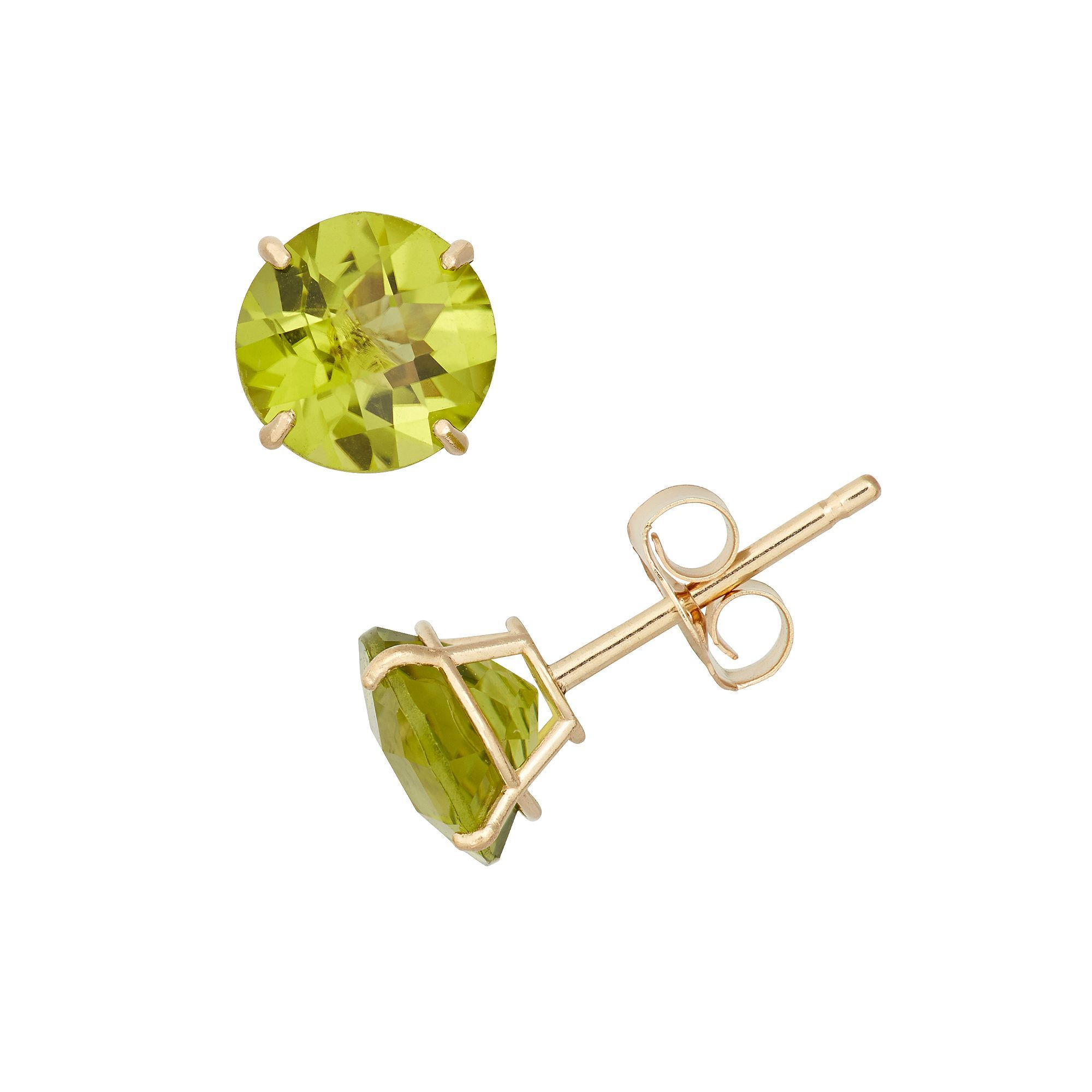 earrings gold in cubic zirconia p stud v