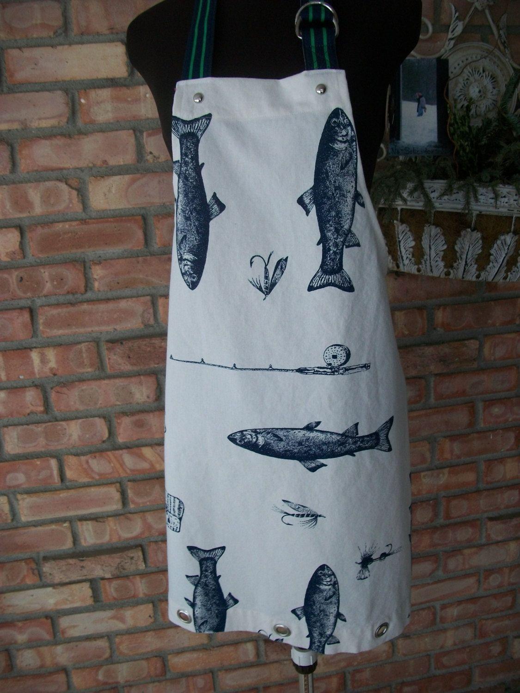White apron etsy - Men S Fish Apron 25 00 Via Etsy