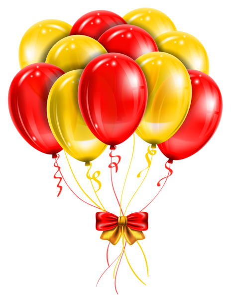 Transparent Red Yellow Balloons PNG Picture Clipart | clip art mix ...