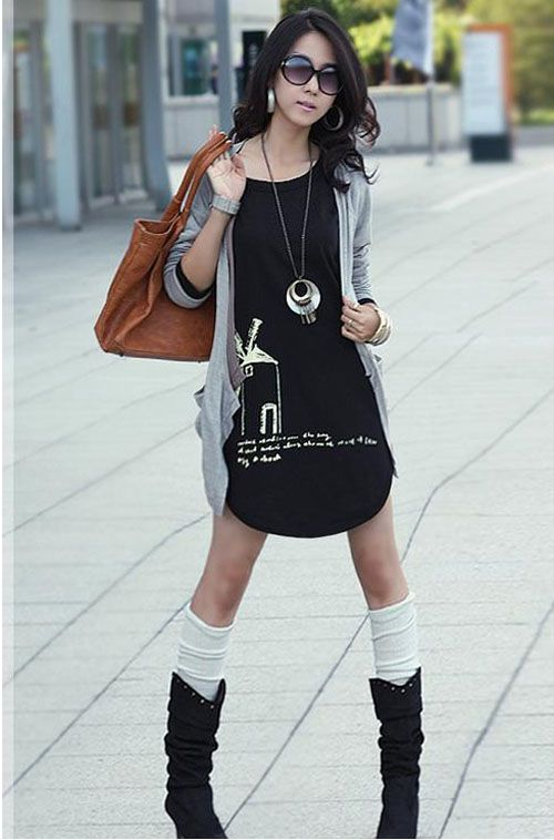 Japanese Chic Street Clothes The Asian Fashion Street Shooting Ankle Boot Collocation Most