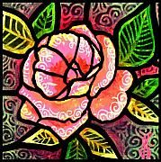 """""""Pink Rose of Love"""" original not for sale, only available as a greeting card ($4.00)."""