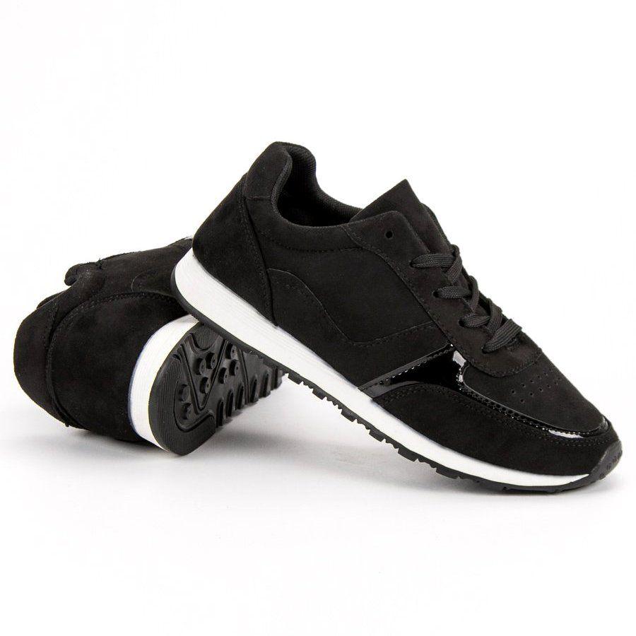 Jumex Wygodne Buty Sportowe Czarne Shoes Sneakers Fashion