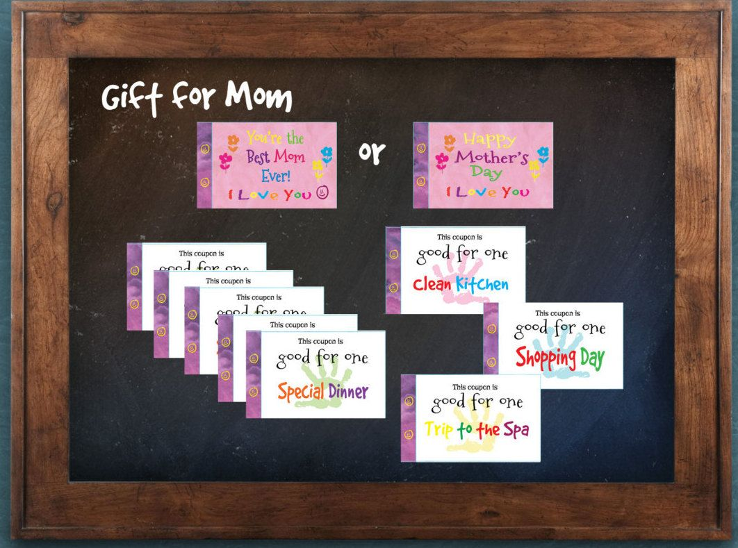 Gift for Mom or Mother\'s Day gift. Love coupon book. 22 coupons. Mom ...