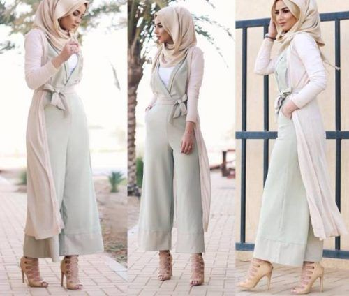 Hijab Fashion 2016 2017 Pastel Green Jumpsuit Hijab Style Casual Chic Hijab 2016 Www
