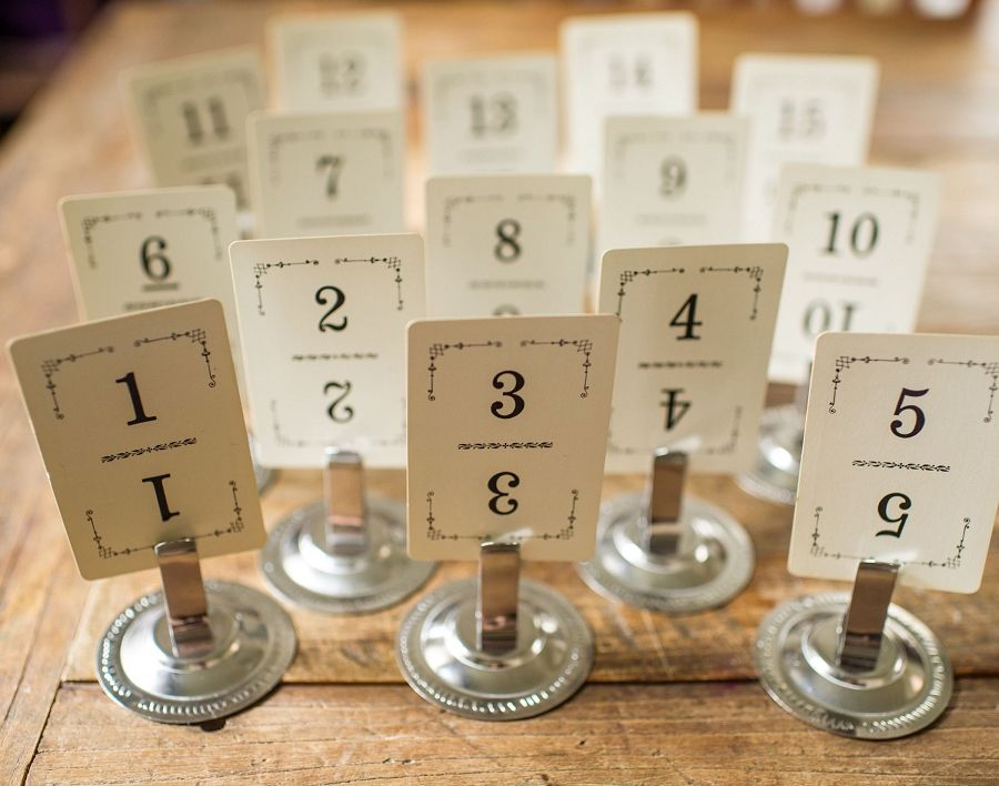 Black And White Vintage Table Numbers Or Gift Tags For Wedding Party Packaging