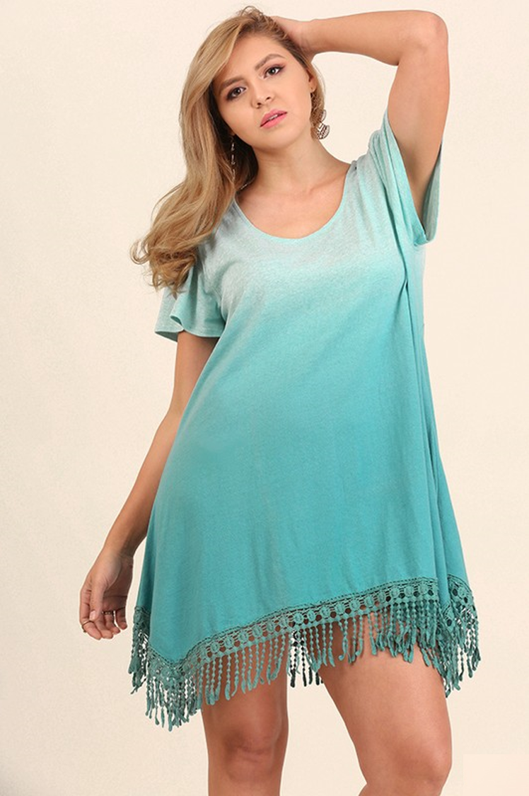 0b3a4db89e5c7 Umgee Teal Ombre Tunic Top Dress