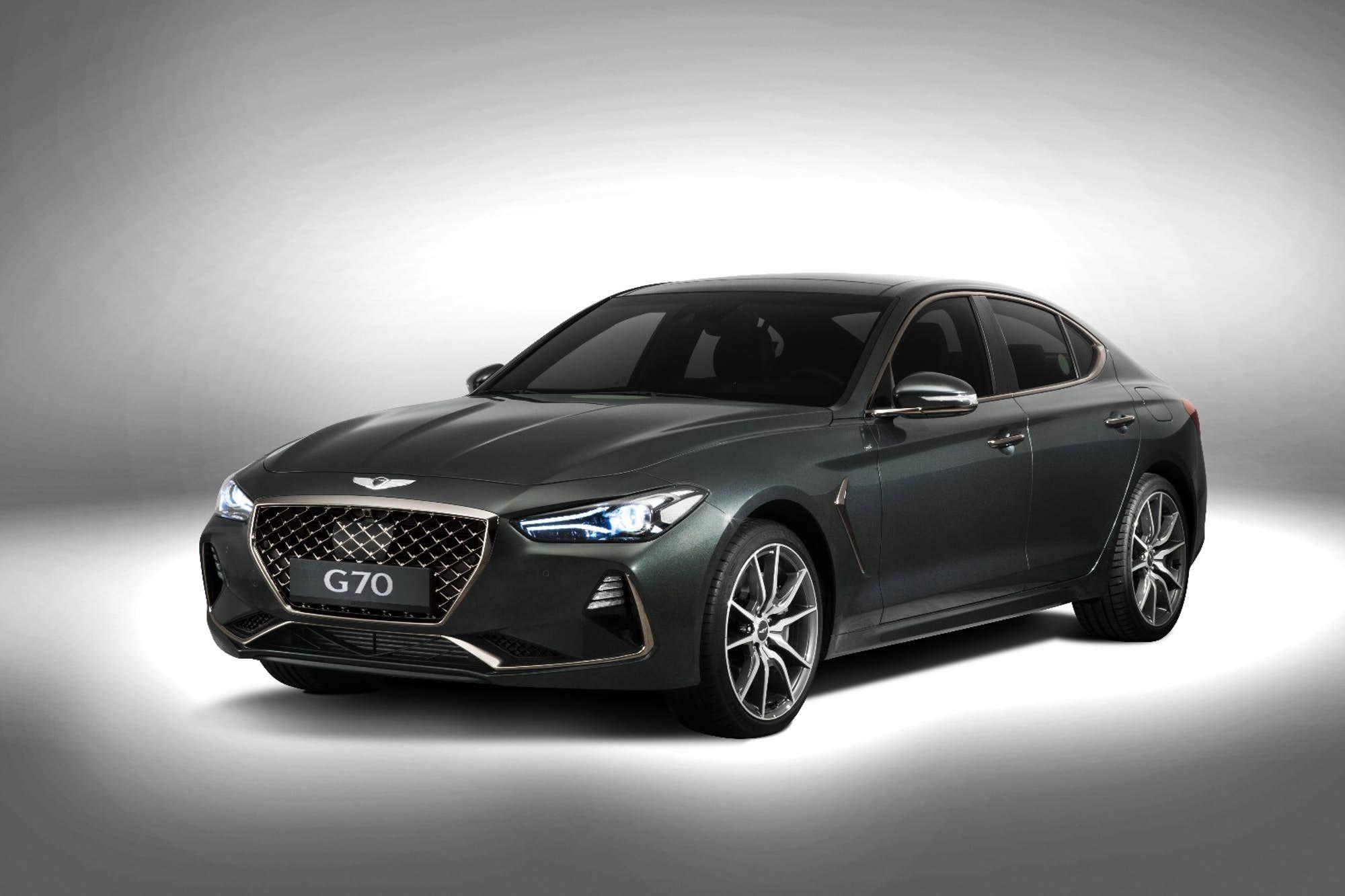 Hyundai Puts Luxury Spin On The Stinger With Genesis G70 Hyundai Genesis Hyundai Genesis Coupe Luxury Sedan