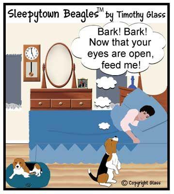 Sleepytown Beagles Cartoon Happens Every Night At My House Baby