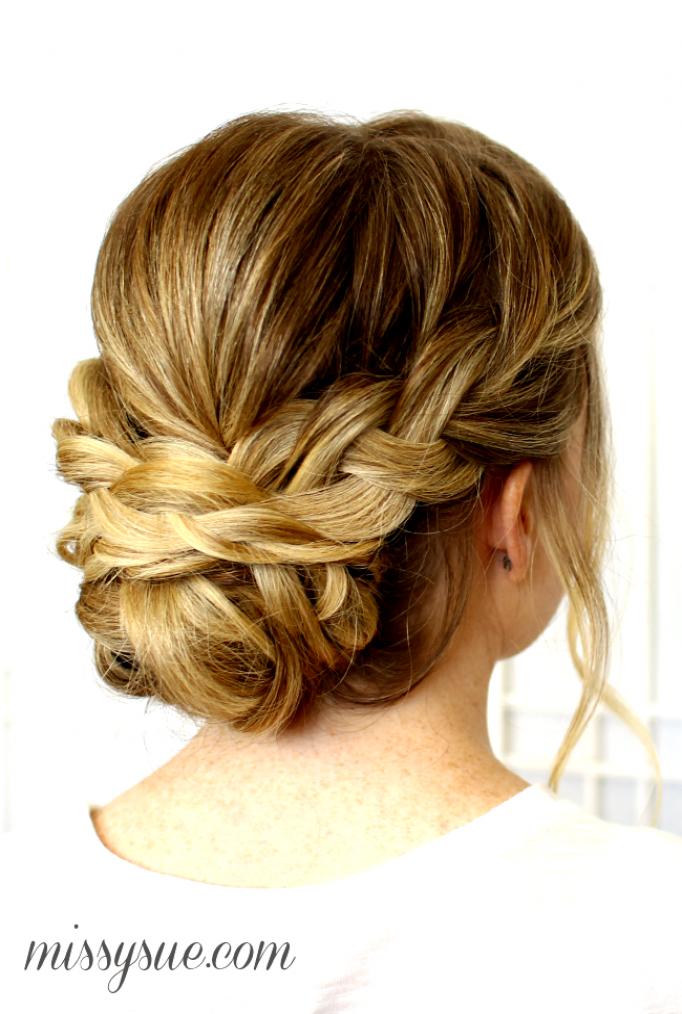 Soft Braided Updo Braidedweddinghairstyles Medium Length Hair Styles Updos For Medium Length Hair Hair Styles