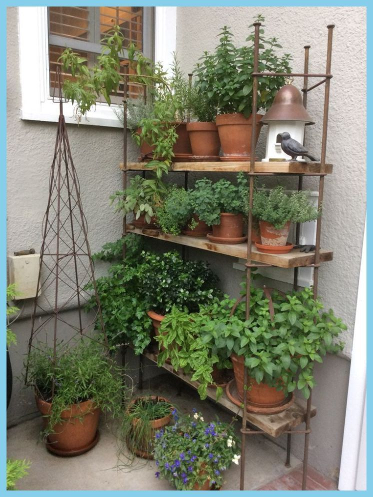 Photo of The Great Outdoors, Small Space Style: 10 Beautiful, Tiny Balconies | Porch Herb Garden Ideas… #thegreatoutdoors