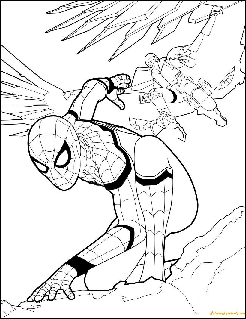 Iron Spiderman Colouring Page Concept