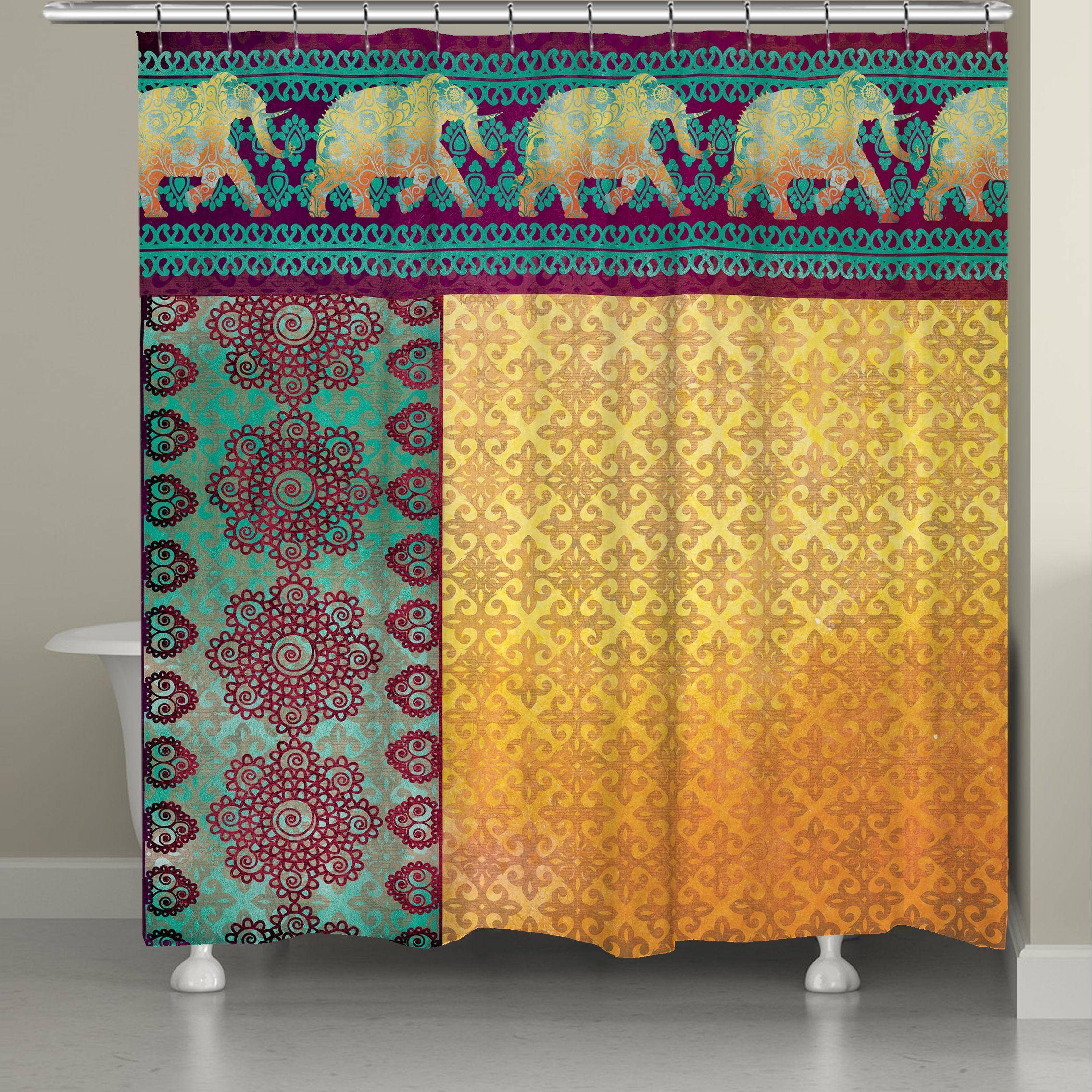 Badezimmer dekor mit duschvorhängen laural home moroccan elephants shower curtain