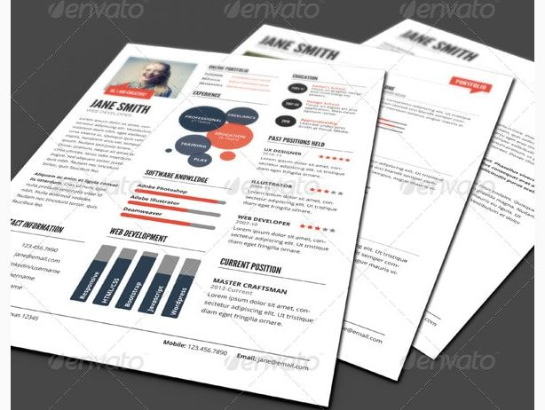 infographic style resume template cv maker creator Creative - mobile resume creator