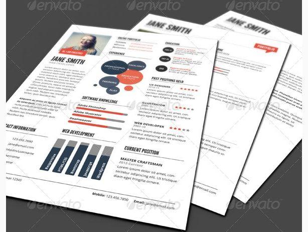 infographic style resume template cv maker creator creative