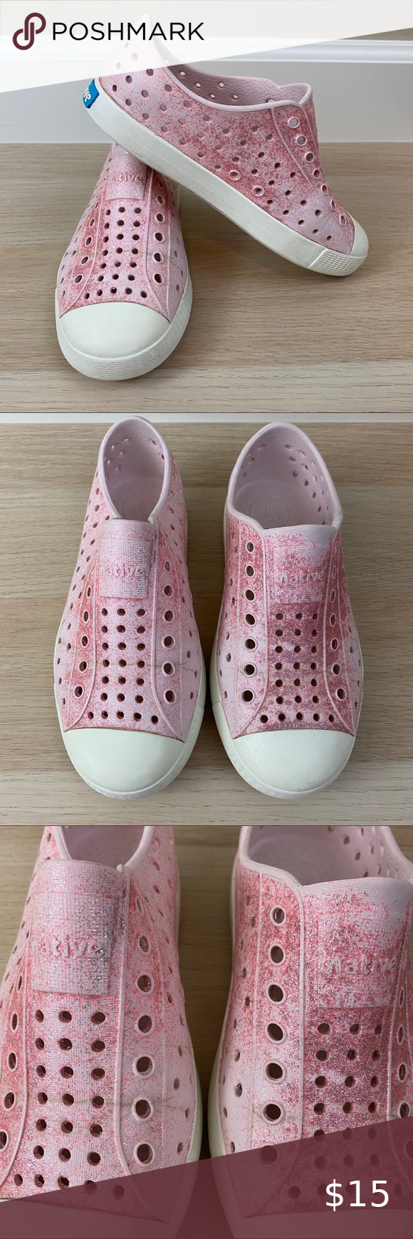 Native Pink Glitter Shoes C13 in 2020