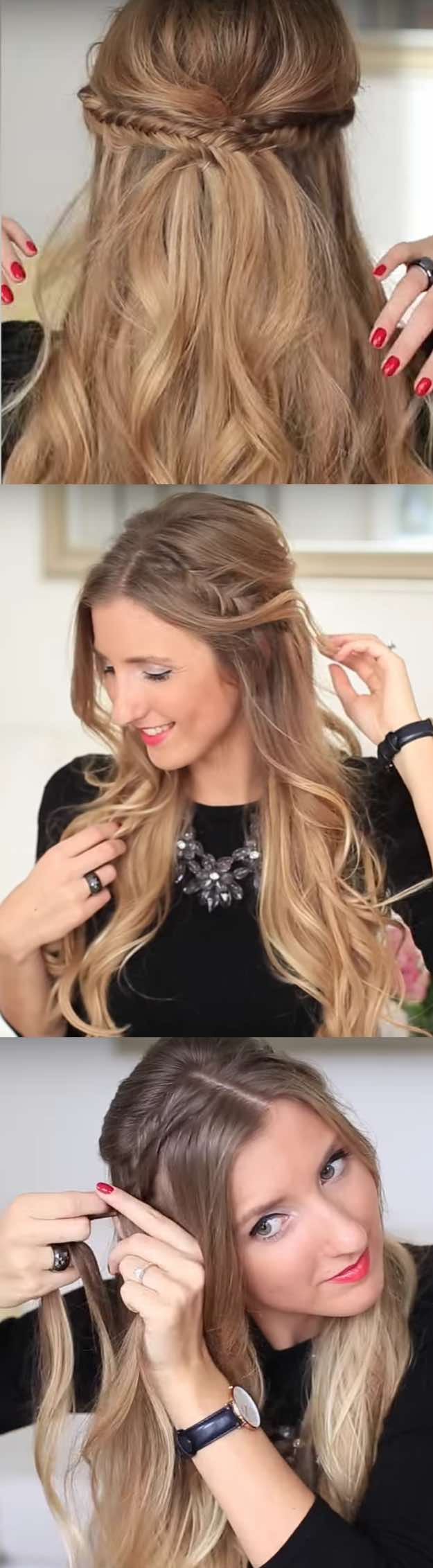 25 Easy Half-Up Half-Down Hairstyle Tutorials For Prom ...