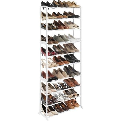 Details About Metal Shoe Rack 30 Pair Shoe Organizer Tower Stand Home Storage Furniture Whitmor White Floors Closet Organizing Systems