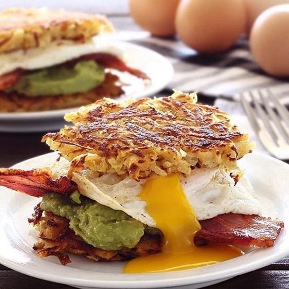Have you tried my hash brown sliders yet? ???? So delicious when you need a little stick to your rib...