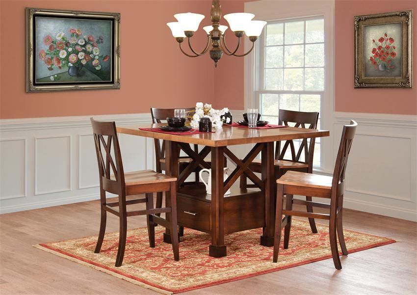 Contemporary Dining Room Cabinets Impressive Amish Contemporary Dining Room Furniture  How Modern Your Dining Inspiration Design
