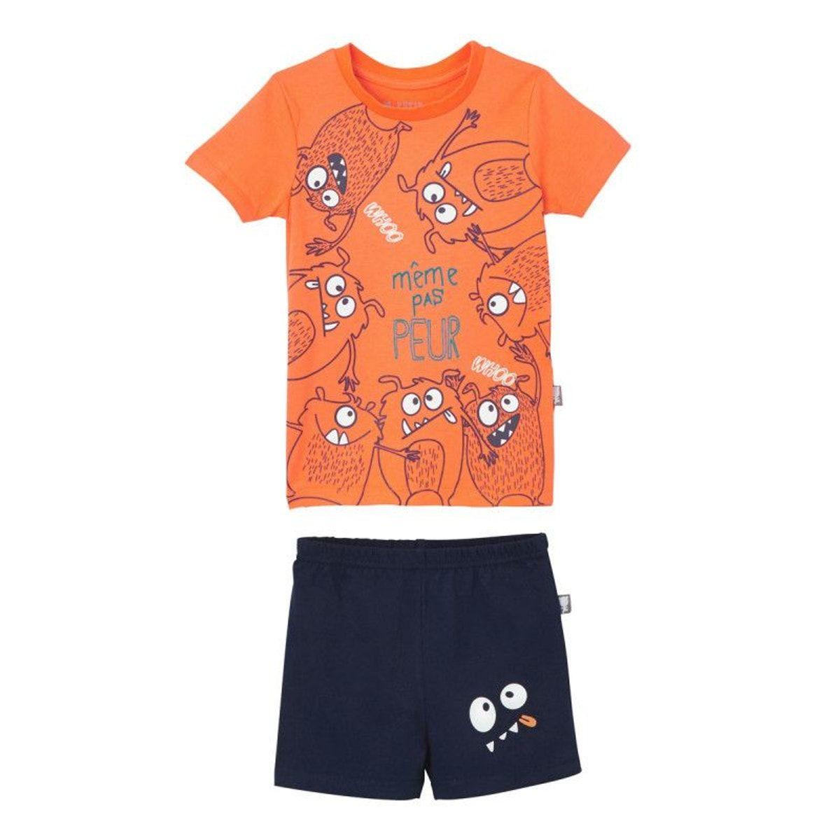 1627f6e7ff271 Pyjama Garçon Manches Courtes Même Pas Peur - Taille : 10 ans;5 ans ...