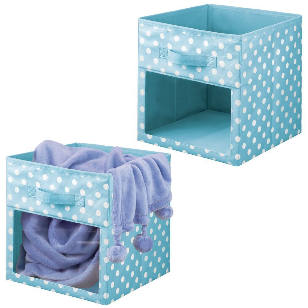 Nursery Kids Room Fabric Cube Storage Bin Closet Organizer In Pink White Polka Dot 10 5 X 10 5 X 11 In 2020 Cube Storage Bins Storage Closet Organization Cube Storage