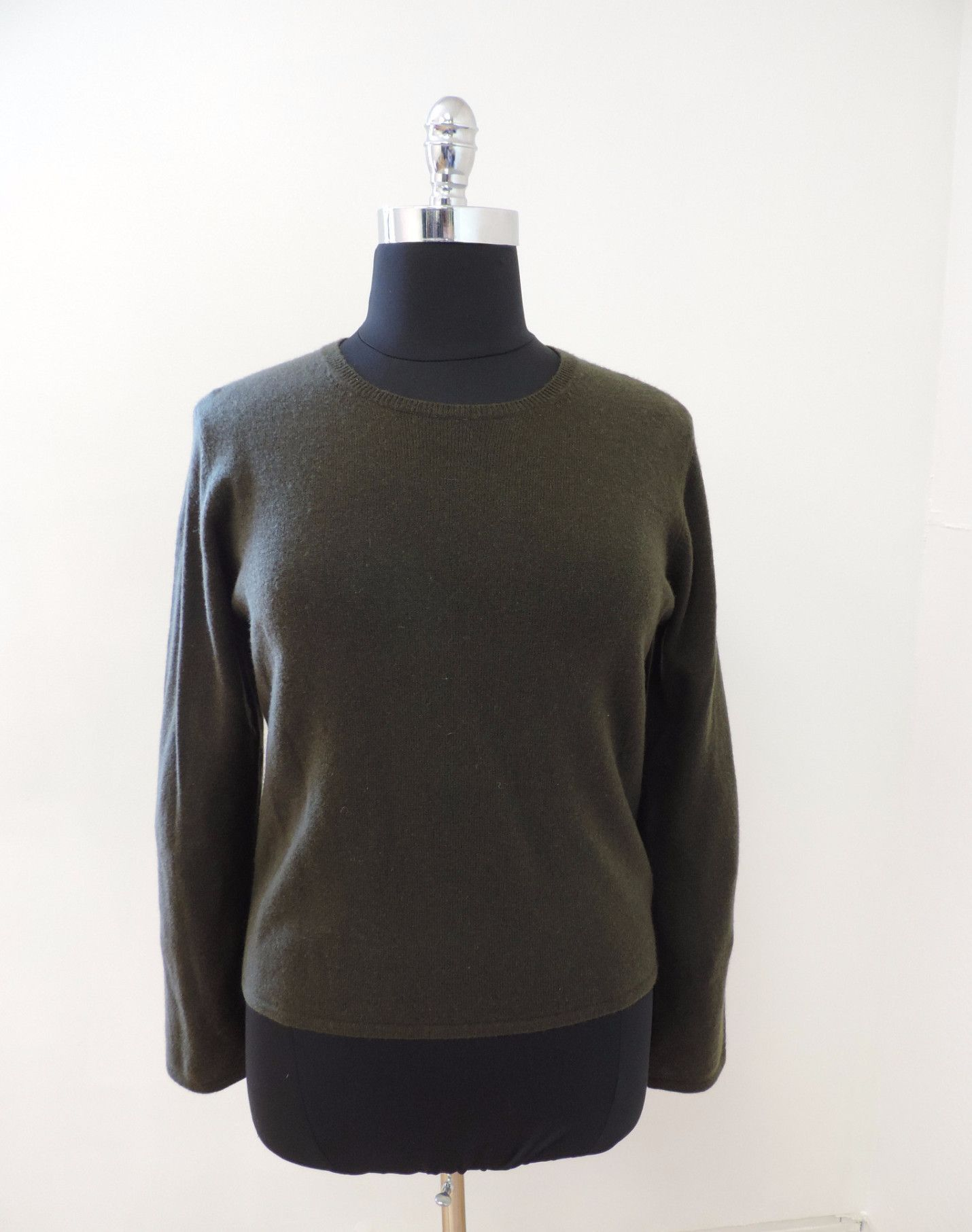 Olive green cashmere sweater