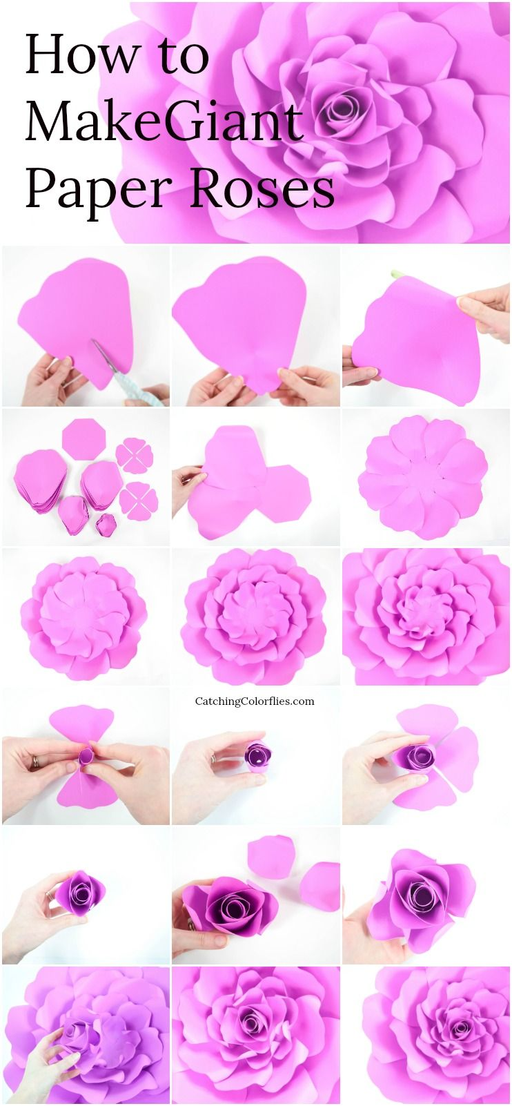 Eden Style Giant Paper Rose Paper Roses Paper Flowers Paper