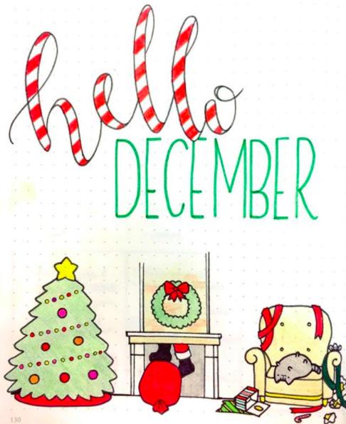 Christmas Header Clipart.15 Christmas Bullet Journal Layout Ideas Free Printable