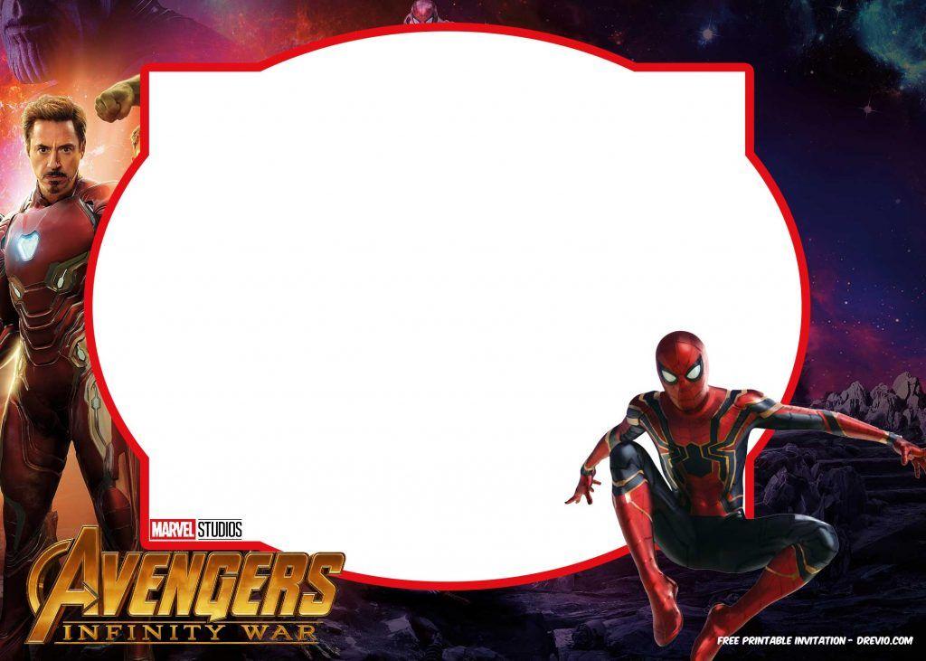 free avengers infinity wars birthday