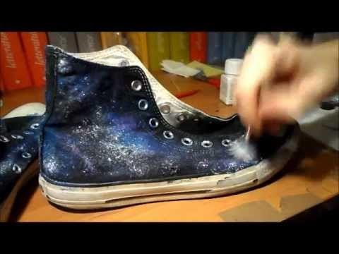 ec0e855286f9 ▷ DIY galaxy nebula converse - YouTube