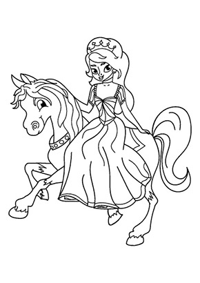 Ausmalbild Reitende Prinzessin Princess Coloring Pages Princess Coloring Horse Coloring Pages