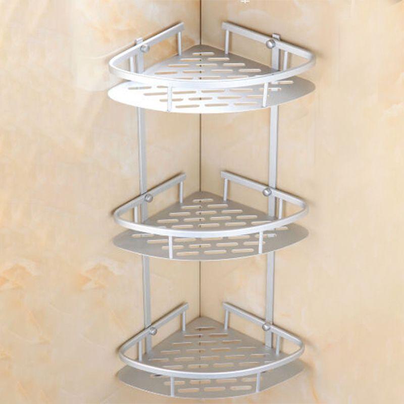 Wholesale Matte Space Aluminium Shelves Triangular Shower Caddy ...