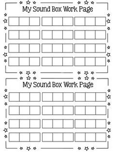Elkonin Sound Boxes Template | Word family/ word work | Pinterest ...