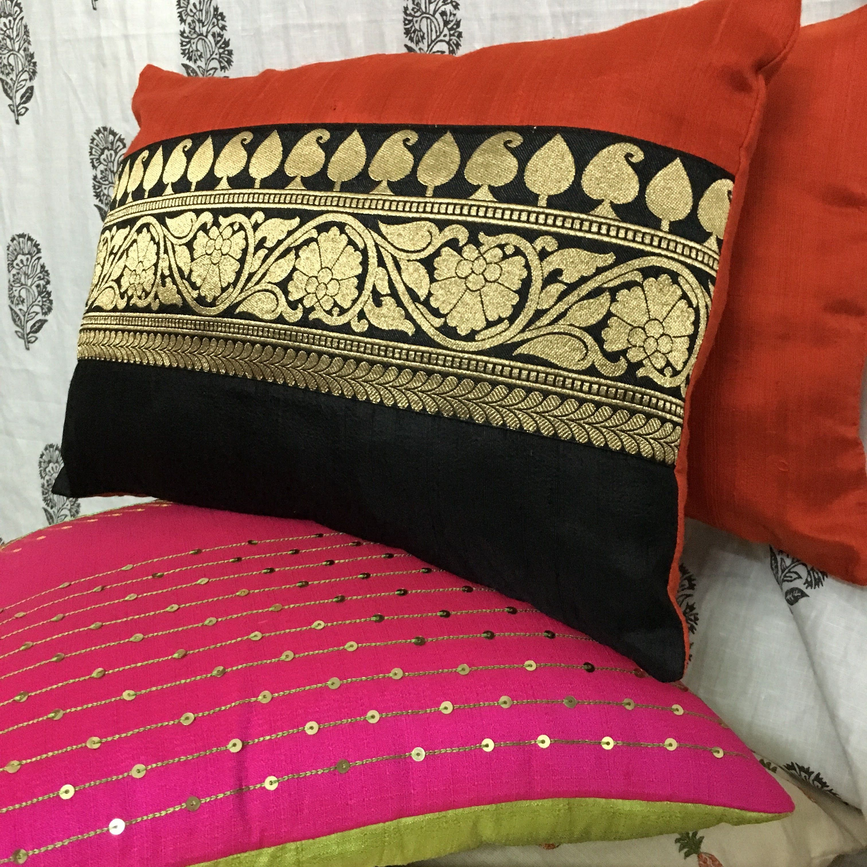 custom made silk pillow covers by