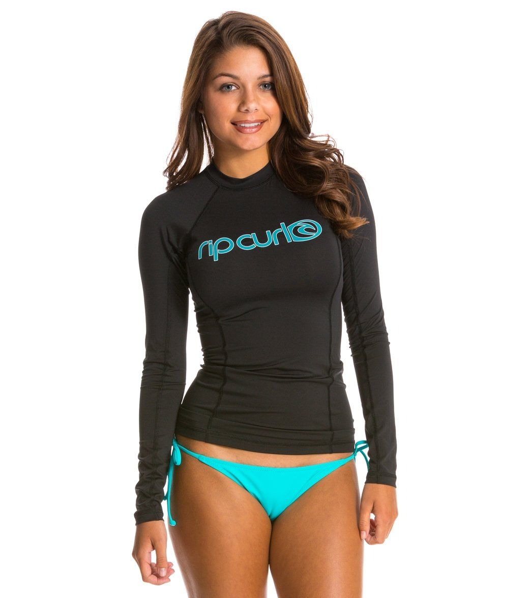 56abd276355b Rip Curl Women's Surf Team Long Sleeve Rashguard at SwimOutlet.com ...